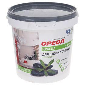 Краска водно-дисперсионная Ореол для внутренних работ 1,5 кг