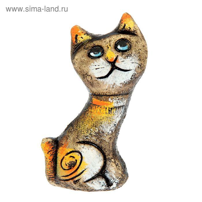 """Сувенир из шамота """"Радость кота"""""""