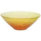"""Салатник стеклянный d=25 см """"Риски"""", 1,2 л, цвет желто-оранжевый прозрачный"""