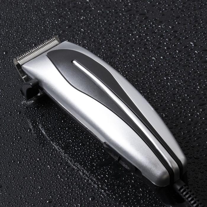 Машинка для стрижки волос LuazON LST-07, 15 Вт, шнур 1.8 м, насадки 3, 6, 10, 13 мм