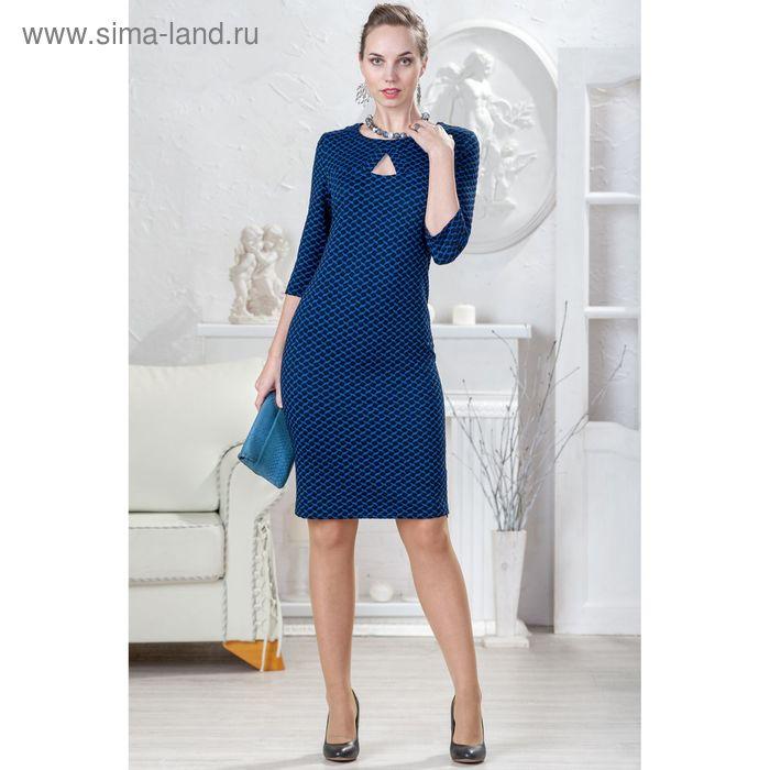 Платье женское 4412 С+, размер 56, рост 164 см, цвет т.синий/черный