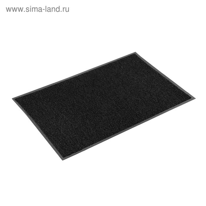 "Коврик, влаговпитывающий, ребристый 80х120 см ""Стандарт"", цвет чёрный"