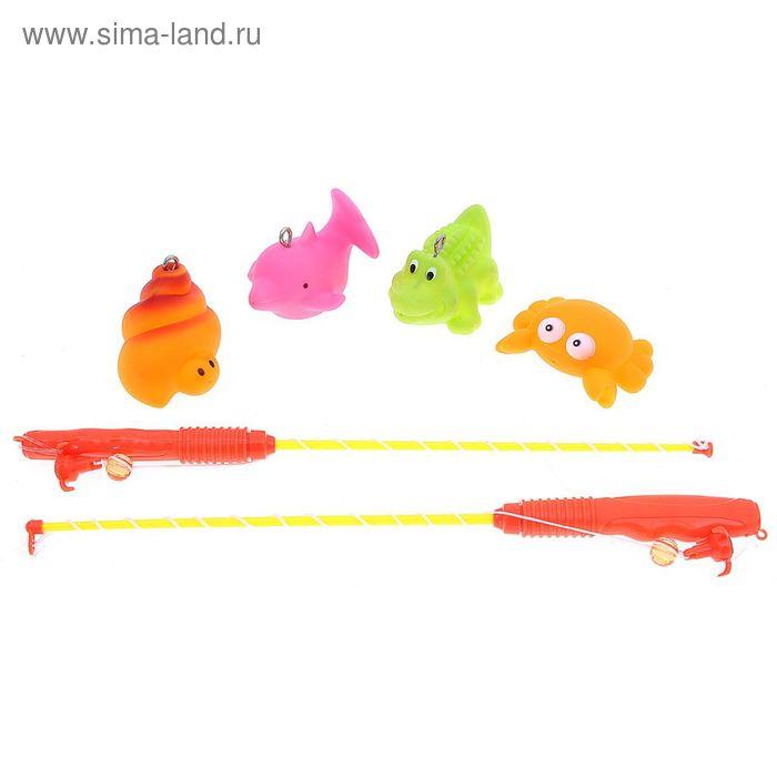 "Рыбалка ""Морские жители"", 6 предметов, МИКС (животные брызгалки) в пакете"