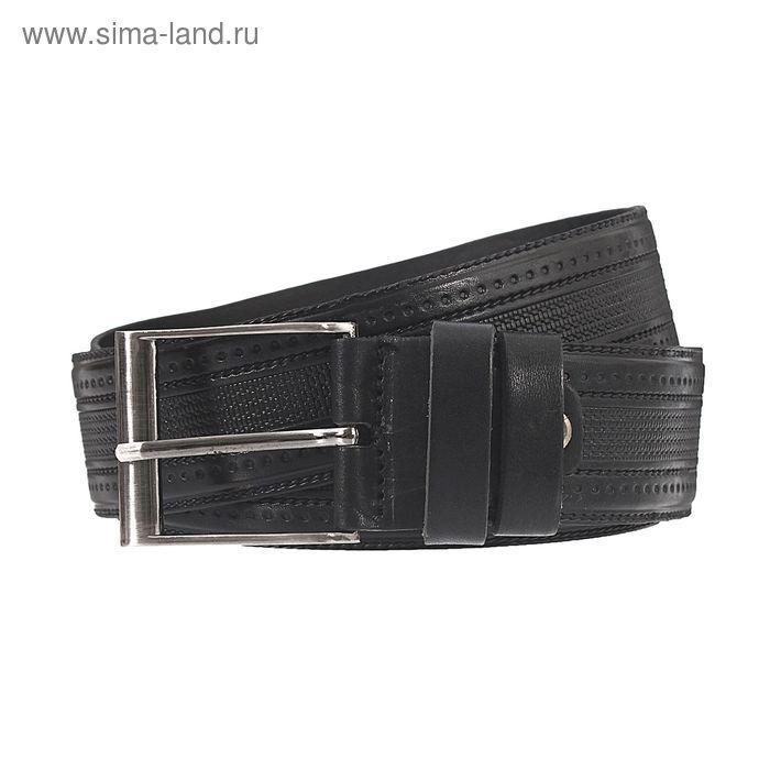 Ремень мужской, винт, пряжка под металл, ширина - 4см, чёрный