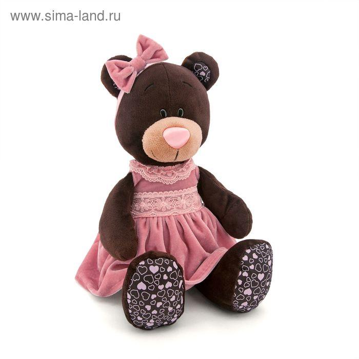 Мягкая игрушка «Milk сидячая в розовом бархатном платье»