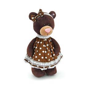 Мягкая игрушка «Milk стоячая в платье в горох»