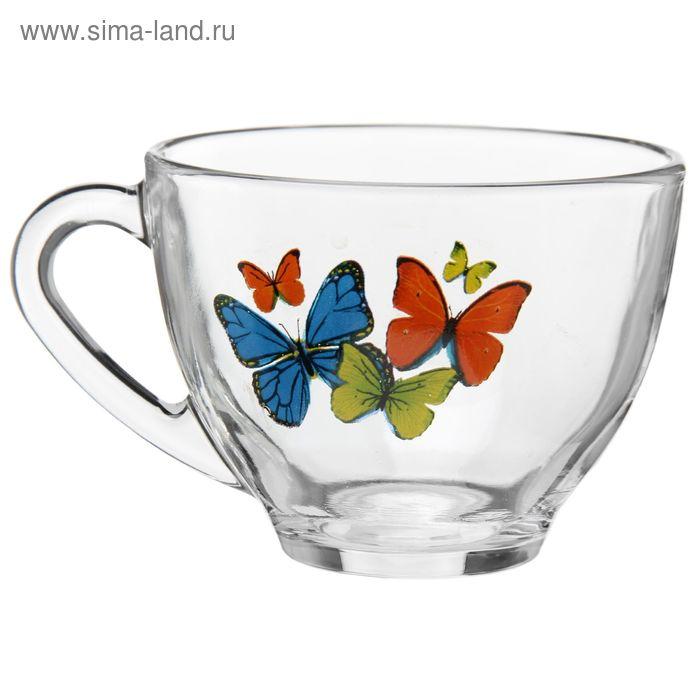 "Кружка 200 мл ""Танец бабочек"", рисунок МИКС"