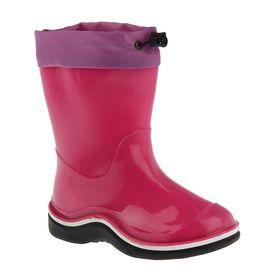 Сапоги детские с утеп арт.106К с надставкой (розовый) (р. 23)