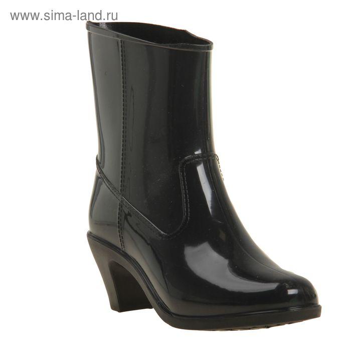 Полусапожки женские с утеп арт.7к на каблуке (черный) (р. 38)