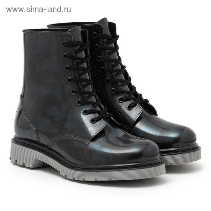 Сапоги (ботинки) женские с утеп арт.12 на шнуровке (черный) (р. 36)