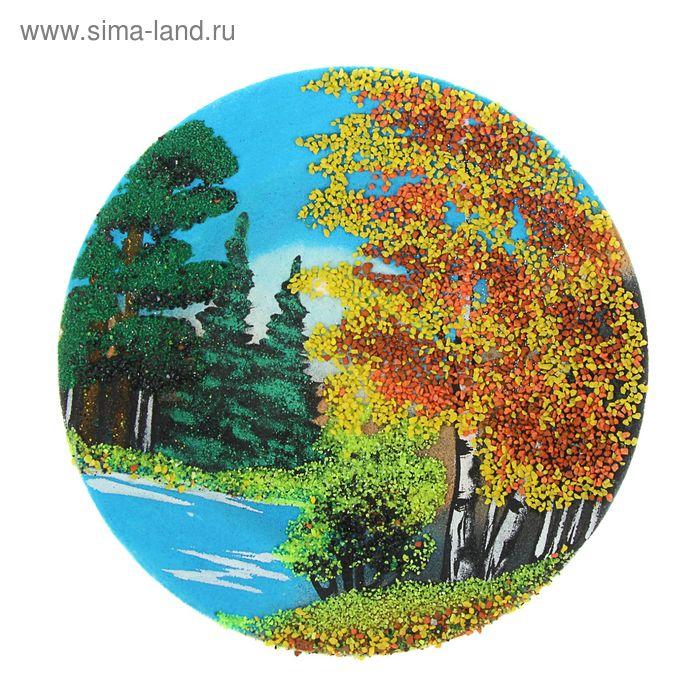 """Тарелка фарфоровая с рисунком """"Осень"""" Д-175х25 мм"""