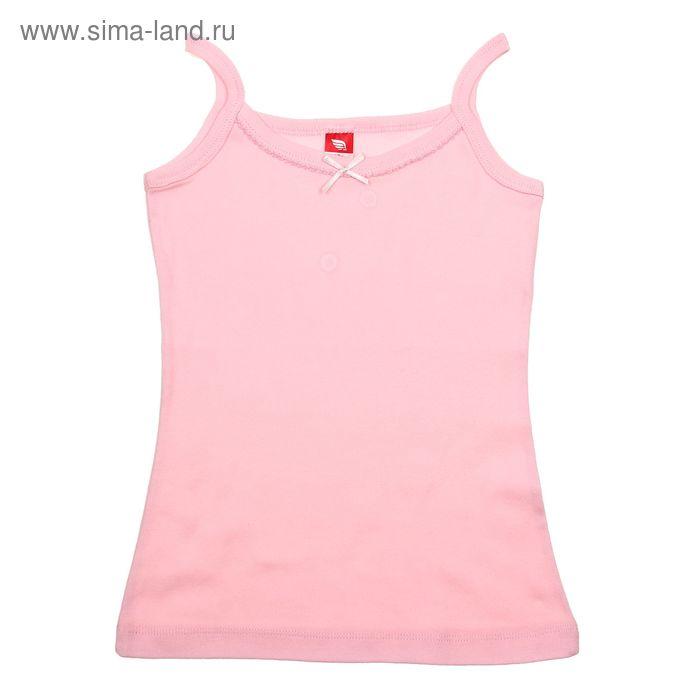 Майка для девочки, рост 152-158 см (80), цвет светло-розовый (арт. CAJ 2241)