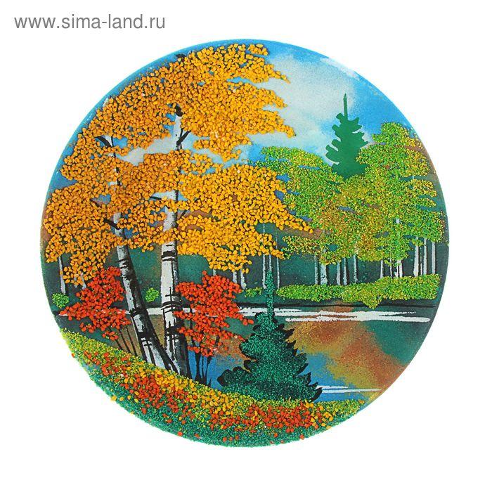 """Тарелка фарфоровая с рисунком  """"Осень"""" Д-200х30 мм"""