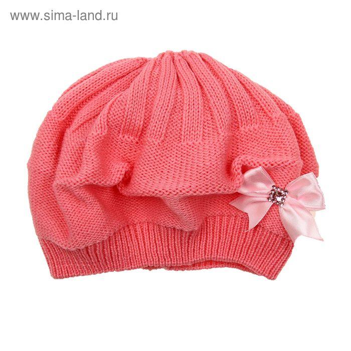 """Берет для девушек """"КСЮША"""" демисезонный, размер 54-56, цвет светло-розовый 160717"""