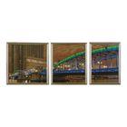 """Модульная картина в раме """"Зелёный мост"""", 35×90 см"""
