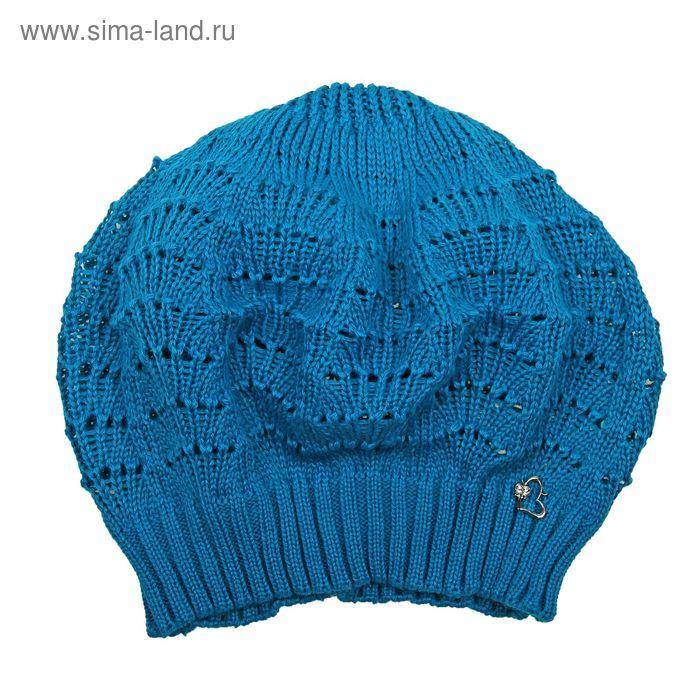 """Берет ажурный для девушек """"ПОЛИН"""", р-р 54-56, цвет бирюзовый 161005"""