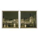 """Модульная картина в раме """"Чёрно-белая Венеция"""", 2 шт. — 36×36 см, 36×72 см"""