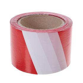 Лента оградительная,эконом, красно-белая,ширина 7,5 см, 100 м Ош