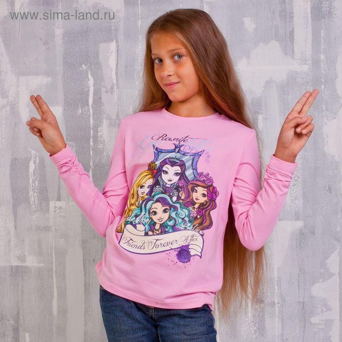 Джемпер для девочки, рост 140 см (72), цвет розовый (арт. ZG 03390-P2_Д)