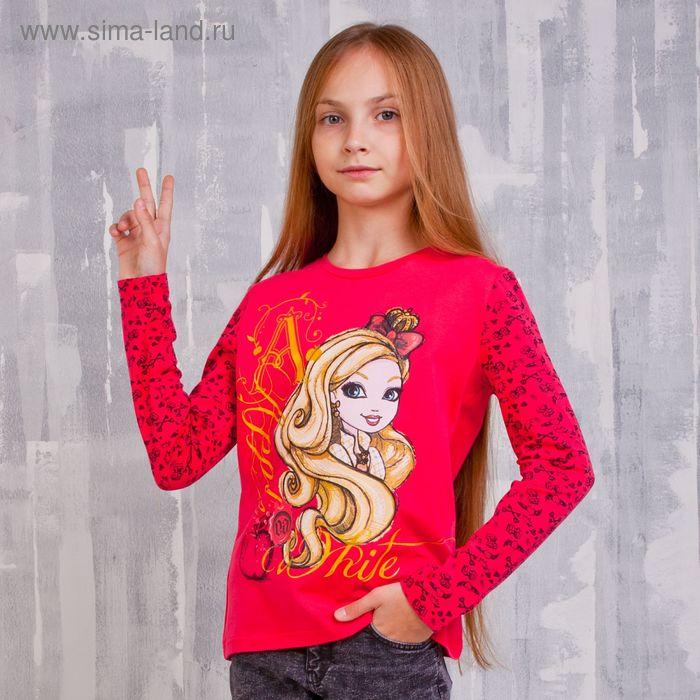 Джемпер для девочки, рост 146 см (76), цвет фуксия-набивка (арт. ZG 03388-F2_Д)