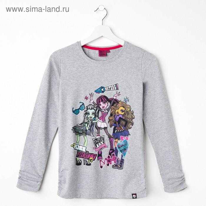 Джемпер для девочки, рост 152 см (80), цвет серый меланж (арт. ZG 03550-М2_П)