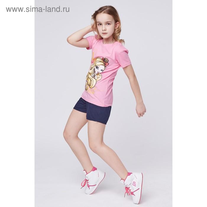 """Футболка для девочки """"Ever After High"""", рост 134 см (72), цвет розовый (арт. ZG 02254-Р2_Д)"""