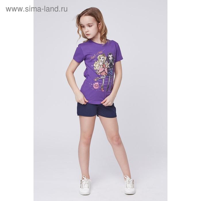 """Футболка для девочки """"Ever After High"""", рост 146 см (76), цвет фиолетовый (арт. ZG 02240-L2_Д)"""