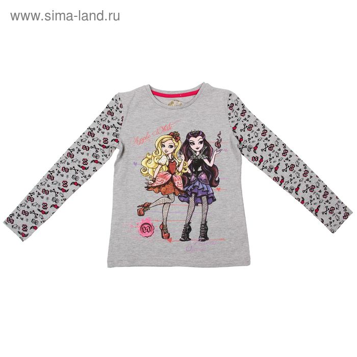 Джемпер для девочки, рост 134 см (72), цвет серый-набивка (арт. ZG 03389-М2_Д)