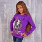 Джемпер для девочки, рост 134 см (72), цвет фиолентовый (арт. ZG 03404-L2_Д)
