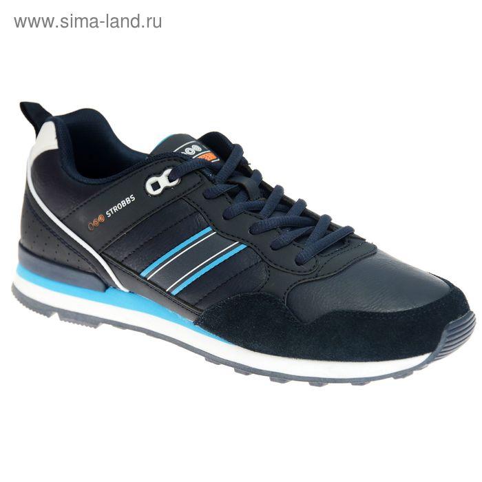 Кроссовки мужские STROBBS, цвет синий, размер 42 (арт. C2316-2)