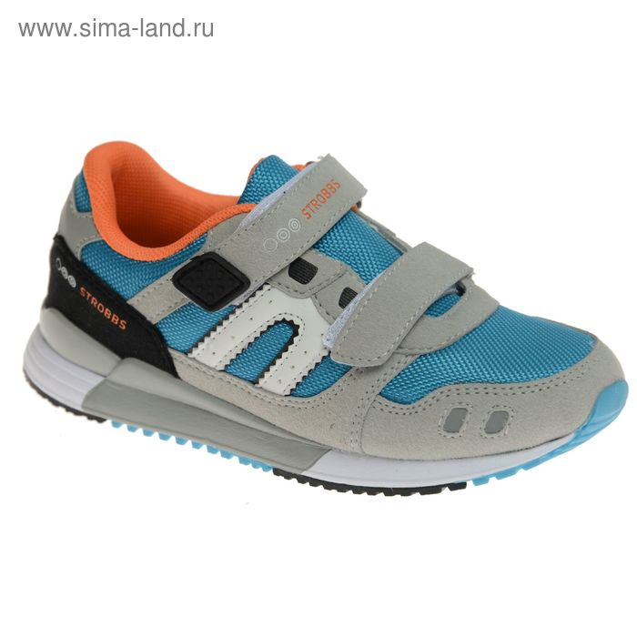 Кроссовки подростковые STROBBS, цвет голубой, размер 34 (арт. N1552-13)
