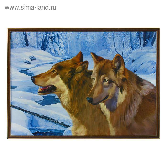 "Картина ""Волки зимой"""