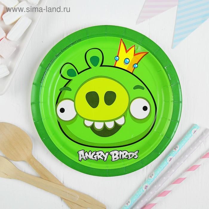 Набор тарелок Angry Birds, 17 см, 8 шт.