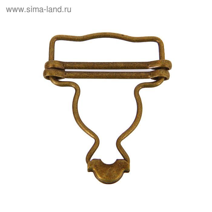 Пряжка для комбинезона, 34мм, цвет бронзовый