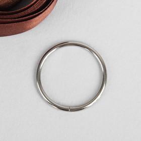 Кольцо металлическое, 35х3мм, цвет никель Ош