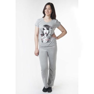 Комплект женский (футболка, брюки) МКД-01 МИКС, р-р 52