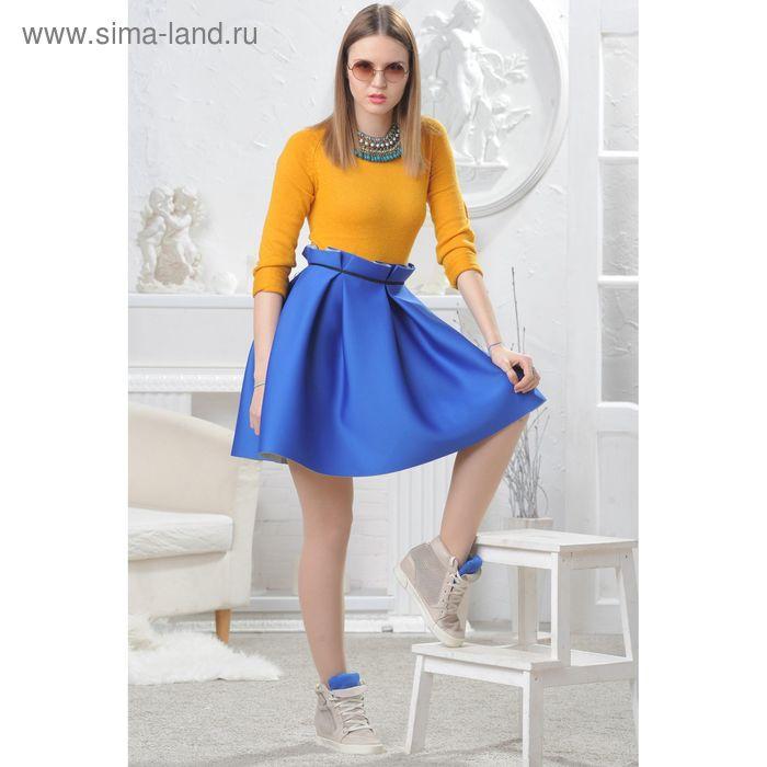 Юбка женская 4574, размер 46, рост 164 см, цвет синий