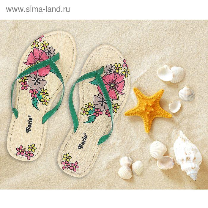 Туфли летние открытые женские Forio арт. 325-1008 (зеленый) (р.36)