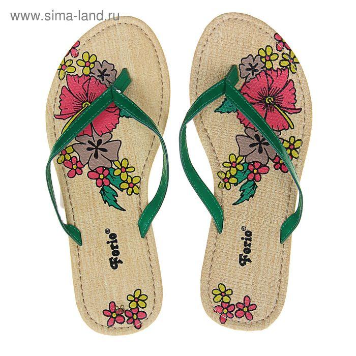 Туфли летние открытые женские Forio арт. 325-1008 (зеленый) (р.40)