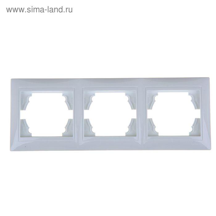 Рамка LEDARD Novus, трехместная, вертикальная, белая