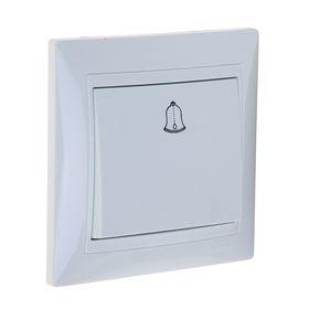 Выключатель звонка LEDARD Novus, 10 А, 250 В, 1 клавиша, скрытый, белый