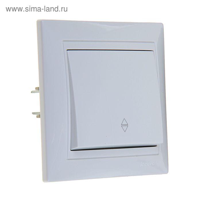 Переключатель LEDARD Novus, 10 А, 250 В, 1 клавиша, скрытый, белый