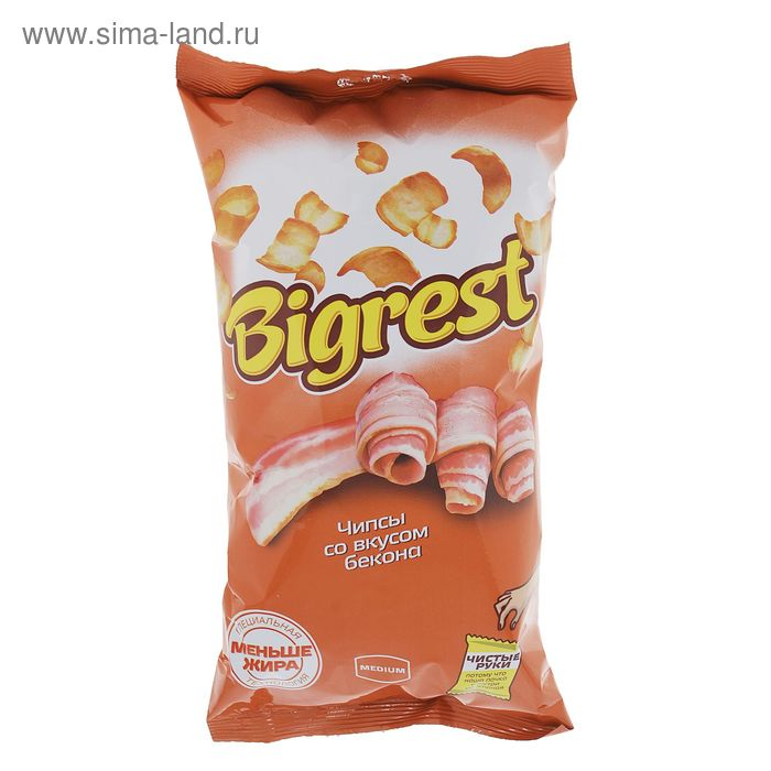 Чипсы Bigrest, со вкусом бекона, 80 г