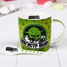 """Набор кружка с ложкой """"Пей чай"""" Звездные войны, 350 мл"""
