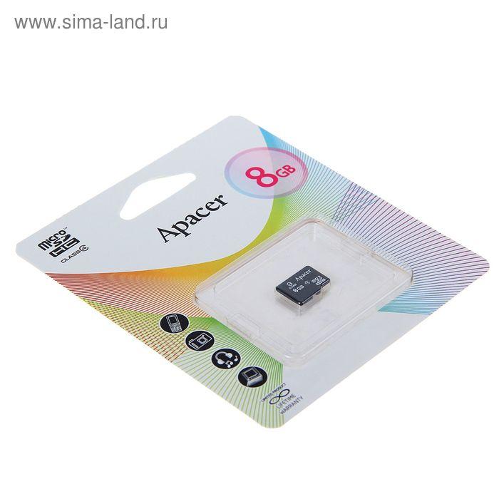 Флеш карта microSDHC Apacer, 8 GB, class 4