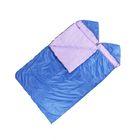 """Спальный мешок """"Комфорт"""", 3-х слойный, с капюшоном, размер 225х140 см, цвет микс"""