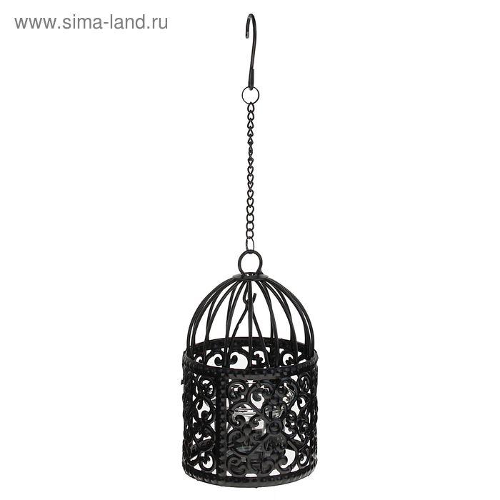 """Подсвечник 1 свеча """"Подвесная клетка"""" МИКС"""