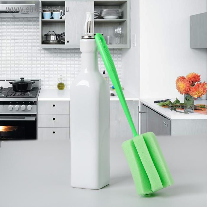 "Ершик для посуды 26х6 см ""Тюльпан"", цвет МИКС"