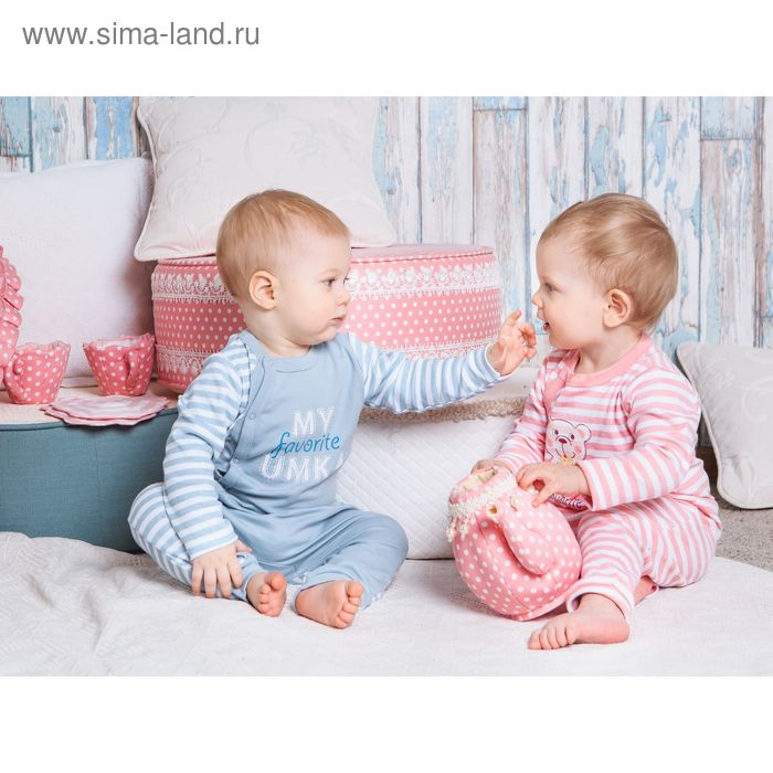 Комбинезон детский, рост 80 см, цвет розовый/полоска (арт. AZ-535)