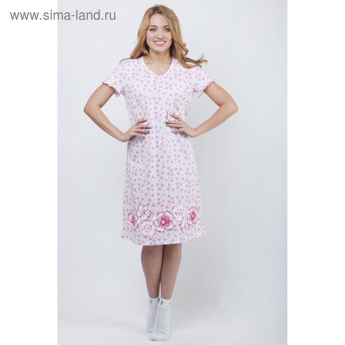 Сорочка женская ночная Р308033 розовый, рост 170-176 см, р-р 44